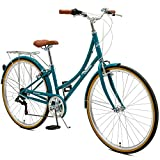 Critical Cycles Damen Beaumont-7 Seven Speed Lady's Urban City Bike, Turquoise, 38cm