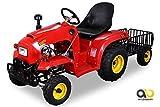 Kindertraktor 110 cc mit Anhänger (Rot)