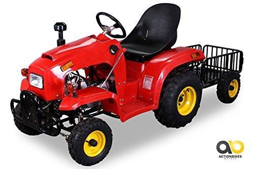 *Kindertraktor 110 cc mit Anhänger (Rot)*