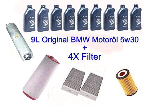 Filtro pacchetto Inspektionskit BMW E60525530d xd 4x + 9L Original olio motore - E60 Filtro Olio Kit