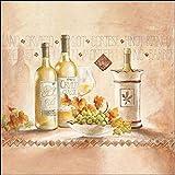 Keilrahmen-Bild - Claudia Ancilotti: Pinot Bianco Leinwandbild Wein Küche Esszimmer Stillleben modern (50x50)