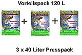 Baumwolleinstreu 120 l Presspack, Vorteilspack Hamster, Mäuse , Zwergkaninchen, Meerschweinchen, Einstreu für Nager