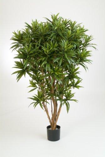 artplants – Deko Dracaena Reflexa Jamaica Amelia, grün, 145 cm – Künstliche Zimmerpflanze/Deko Palme