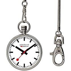 Mondaine Unisex-Armbanduhr SBB Pocket Watch 43mm Analog Quarz A660.30316.11SBB