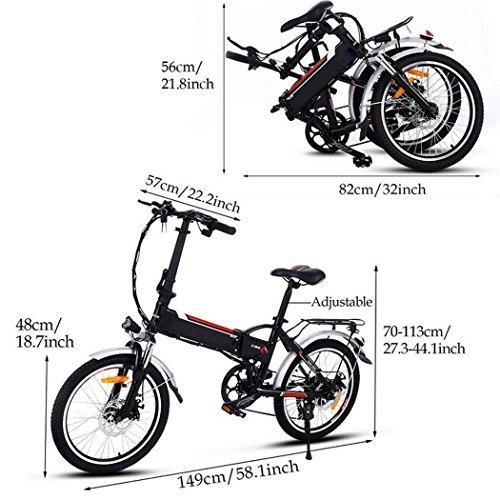 Beautytalk 18.7 Zoll Elektrofahrrad Faltbar E-Bike Klappräder 35km/h Mountainbike Elektro Fahrrad mit Kapazität Lithium-Akku,LED-Anzeige,250W Max