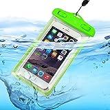 I-Sonite (Grün Universal-Transparent Handy, Pass, Geld Wasser wasserdicht Swimming Pool, Meeresschutz Tasche Touch-Responsive Für HTC One ME