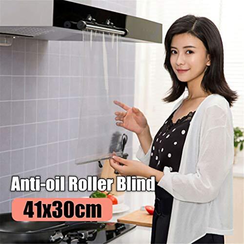 Tensay Küche Sicherheit Anti Öl Rolling Shutter Transparent PVC Vorhang Kochen Sicheres Gesicht Skalierbare Multifunktions Beste Geschenk für Mutter Frau