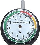 VERGO Reifenprofilmesser - Tiefenmesser - Profiltiefenmesser - Messbereich 0-11 mm/0-0.43