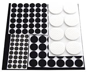Am-Tech Floor Protector Furniture Pads (125 Pieces) by Am-Tech