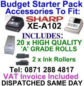 sharp-xe-a102-xea102-xea-102-starter-pack-ink-and-till-rolls