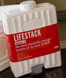 Lifestack nourriture et à eau empilables de rangement/boîte de rangement Compatible avec toutes les poubelles 22 g