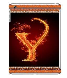 Fuson 3D Printed Alphabet Y Designer back case cover for Apple iPad Mini - D4216