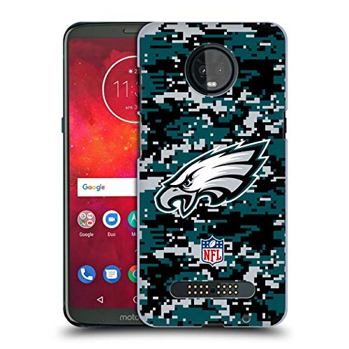 Head Case Designs Offizielle NFL Digitales Camouflage 2018/19 Philadelphia Eagles Harte Rueckseiten Huelle kompatibel mit Motorola Moto Z3 / Z3 Play