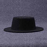 Vaevansp Casquillo Salvaje Del Sombrero Negro Del Jazz Del Casquillo Del Sombrero De La Marea Del Casquillo Del Caballero De La Tapa Del Varón Del Verano Femenino Del Verano, A