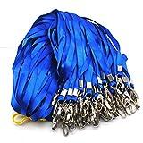 Strap Lanière,30 Pack Laniere Bleu Tour de Cou Employés Lanyards avec Métal Pince pour Porte-badge Cartes d'identité Porte-clés Conférences Événements Bureau d'exposition Bleu