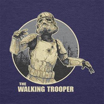 TEXLAB - The Walking Trooper - Herren Langarm T-Shirt Navy