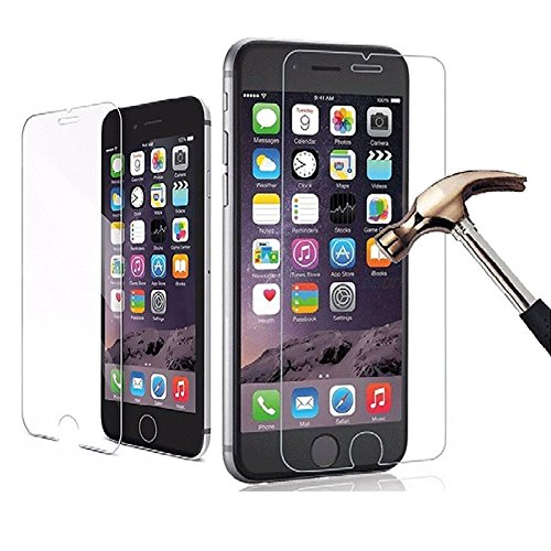 Apple iPhone 8Drop Protection Crystal bumper case Tecnologia di metallo placcatura morbido gel TPU custodia bumper Tempered Glass