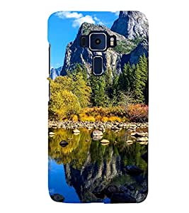 printtech Nature View Mountains Back Case Cover for Asus Zenfone 2 570KL