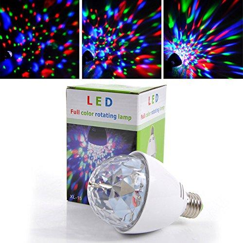quickcor (TM) Multicolor LED de luz giratoria giratoria lámpara bombilla RGB Luces...