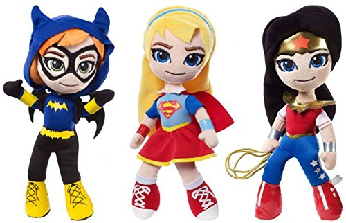 DC Comics 900 DWH55 Super Hero Girl Assorted Plush, 10.5-Inch