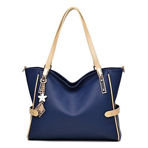 Syknb Moderne Umhängetasche Handtasche Deep blue