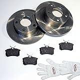 Autoparts-Online Set 60003594 Bremsscheiben/Bremsen + Beläge Hinten