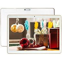 Fonxa 9,6 pulgadas Octa Core Tablet Teléfono Con estuche protector -4GB Ram, 32GB Storage- Android Lollipop 5.1- IPS Display, GPS, Bluetooth, Dual SIM - Blanco