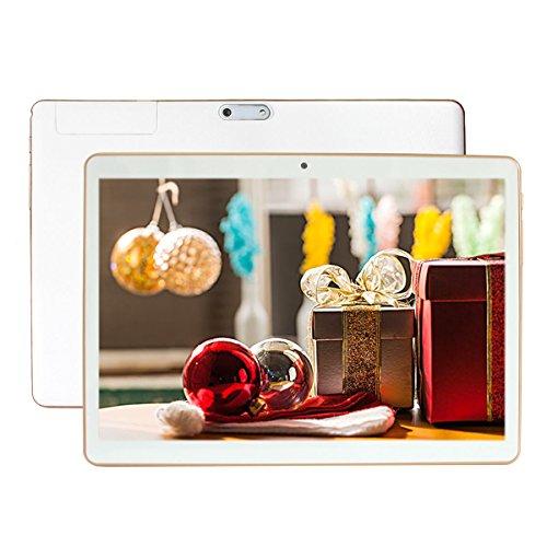 Fonxa 9,6 pollici Octa Core Tablet Telefono con Custodia - 4GB Ram 32GB Storage - Android Lollipop 5.1- IPS display, GPS, Bluetooth, Dual SIM - Bianco