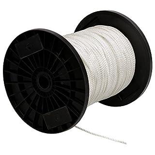 Schössmetall Nylonseil weiss geflochten Ø 5 mm DIN 83307 Meterware