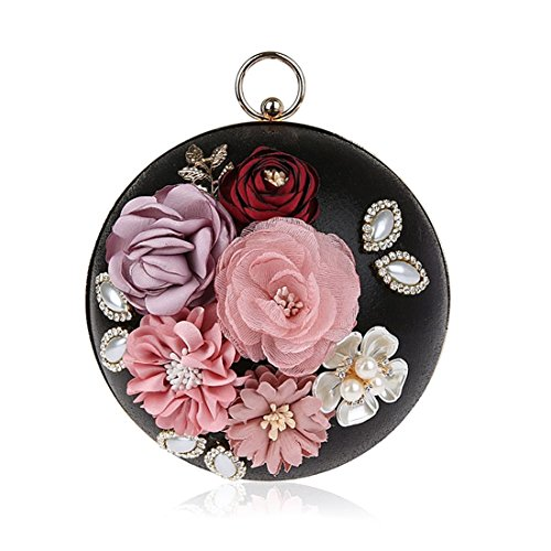 HT  Floral Clutch, Beauty Case da viaggio  Donna Black