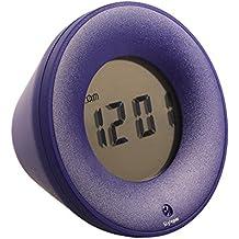 Stylepie LED Digital Alarma despertador Reloj Repeticion activada por Snooze de Tiempo Fecha Temperatura Humedad-Azul