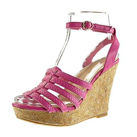 Chaussure Fuschia Femme - Angkorly - Chaussure Mode Sandale Mule plateforme