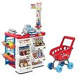 Kindersupermarktkasse Einkaufswagen-Set Kinderspiel [Mehrfarbig]