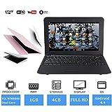 FANCY CHERRY 10 Pulgadas 8GB Laptop Netbook Notebook PC Ultrabook Android 4.4 HDMI WiFi Cámara (Laptop Bag + Mouse + Mouse Pad + Earphone) (Blanco)