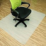Rapid Teck® Bodenschutzmatten 120cm x 130cm für Hartböden in 6 Größen Bürostuhlunterlage Bodenschutzmatte Semi transparent