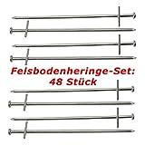 ToCi Felsbodenheringe 23 cm Stahl verzinkt |Zelthering Zeltnagel Erdnagel Felsnagel für harte und...