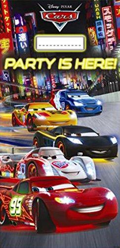 Disney Papierflaggen Party-Dekoration mit Neon Cars Aufdruck