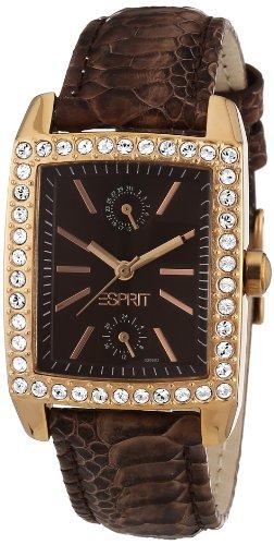 Esprit A.ES103062004 - Reloj analógico de cuarzo para mujer con correa de piel, color marrón