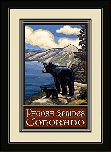 Northwest Art Mall PAL-1090 MFGDM LKB Pagosa Springs Colorado Lake Bears Kunstdruck, gerahmt, 33 x 41 cm - Lake-colorado Springs