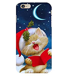 D KAUR Cute Cat Back Case Cover for Apple I Phone 6 Plus::Apple I Phone 6 Plus