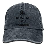 hanbaozhou Hüte,Kappen Mützen Trust Me I Am Farmer Tractor Denim Hat Adjustable Unisex Great Baseball Hat