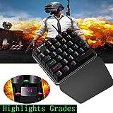 HXSJ J100 Einhand-35-Key verdrahtete USB-Gaming-Tastatur für PUBG (Tastatur)