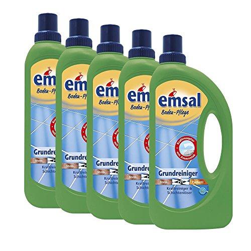 5x emsal Boden-Pflege Grundreiniger 1 Liter Kraftreiniger & Schichtenlöser