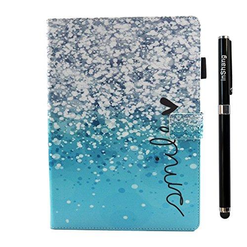iPad IPad pro 10.5 Custodia per IPAD iPad pro 10.5 inch, inShang Smart Cover case in pelle PU, supporto per tenere L'iPad sollevato, magnetico per sleep e standby + inShang Logo pennino di alta classe bubble