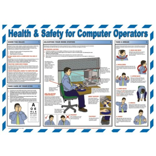 Health and Safety for Computer Operators Poster 590x420mm by UK Safety Posters - Hardware Computer Poster