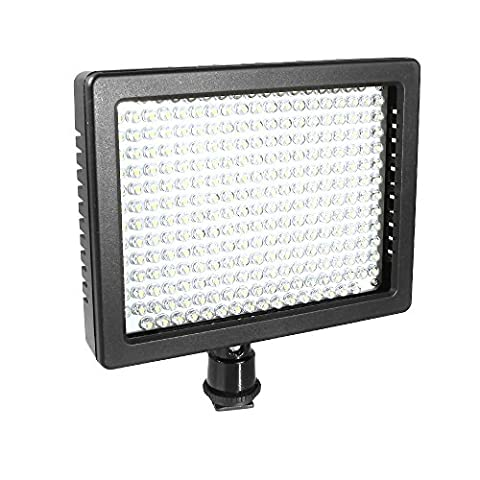 Andoer® 260 LED Video Light Lamp Panel matched with two filters 18W 2100LM Dimmablefor Canon Nikon Pentax DSLR Camera Video Camcorder