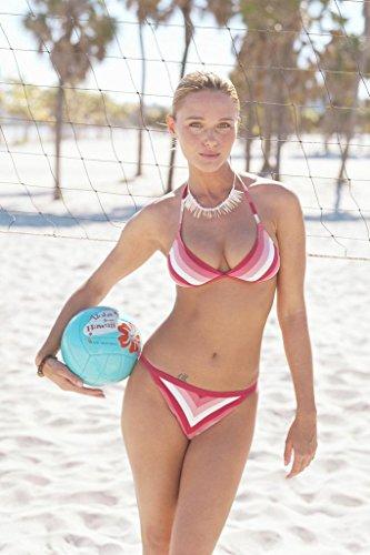 Sexy Girl Poster (Poster Gießerei Sexy Girl in Bikini führen Volleyball auf Strand Foto Kunstdruck von proframes 54x36 inches Poster)