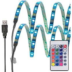 InnoBeta® 50cm(19.6pollice)X2 Retroilluminazione LED Multicolore DC5V 7.2W Striscia USB Flessibile Impermeabile IP65 SMD5050 RGB Tagliabile per TV, HDTV, Schermo LCD, Laptop, Desktop PC, Esterni, Camera da Letto, Migliore l'Atmosfera e Riduce l'Affaticamento degli Occhi