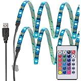 InnoBeta® 50cm(19.6 pulgada)X2 Tira recortable LED multicolor USB con iluminación posterior CC5V 7,2W IP65 Flexible y resistente al agua SMD5050 RGB para TV, HDTV, Pantalla LCD, Portátil, Sobremesa, Exteriores, Dormitorio, Mejorar el ambiente y reducir la fatiga visual