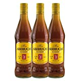 Ron AREHUCAS - goldener Rum -Carta Oro 37,5% vol. , 3er Sparpack 3 x 700 ml